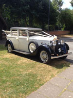 Rolls Royce Landaulette wedding car hire